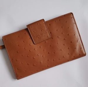 Kate Spade Ostrich Skin Travel Holder Wallet